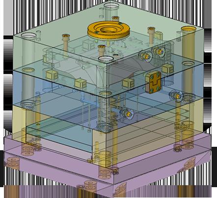 内置主流模具标准件库,且支持用户自定义